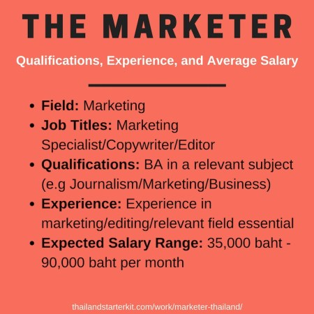marketer thailand