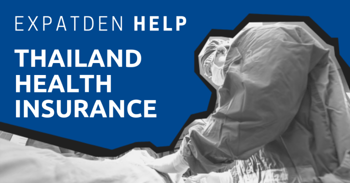 A doctor operating on a patient with the title, ExpatDen: Thailand Health Insurance