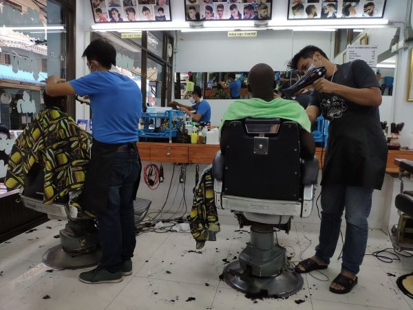 local barber in Bangkok