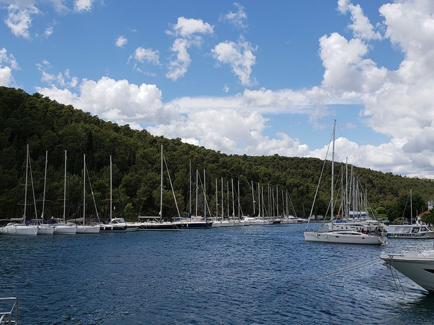 Marina in Skradin, Croatia
