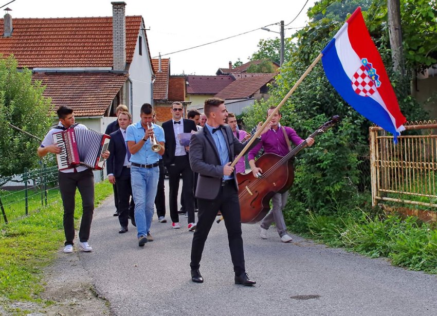 Bajraktar at Croatian wedding