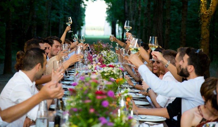 Croatian wedding party