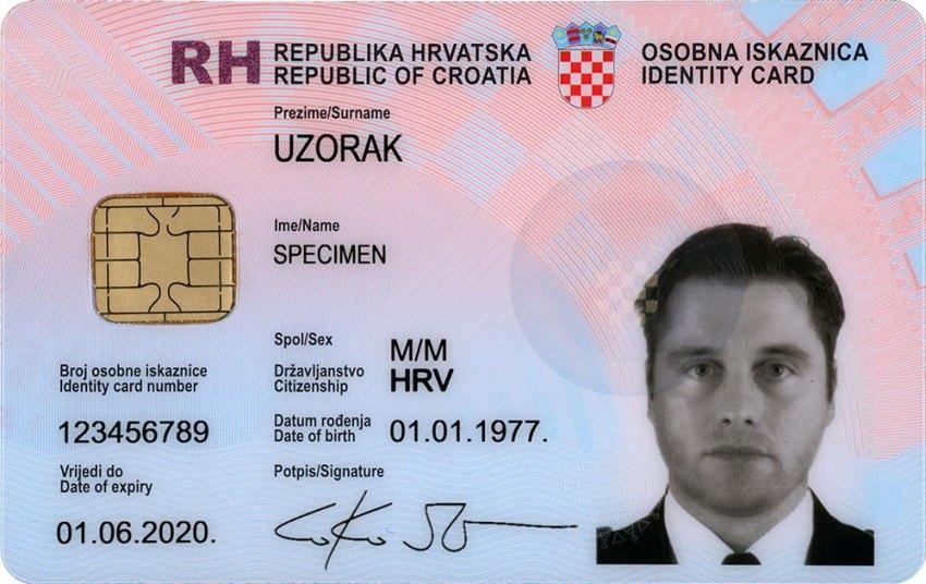 Osobna Iskaznica - Croatian National ID Card
