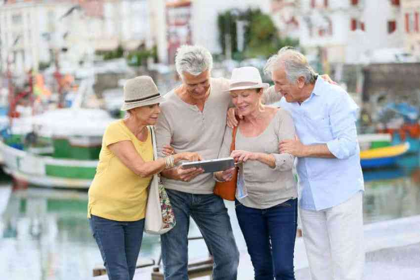 Senior citizens traveling Croatia