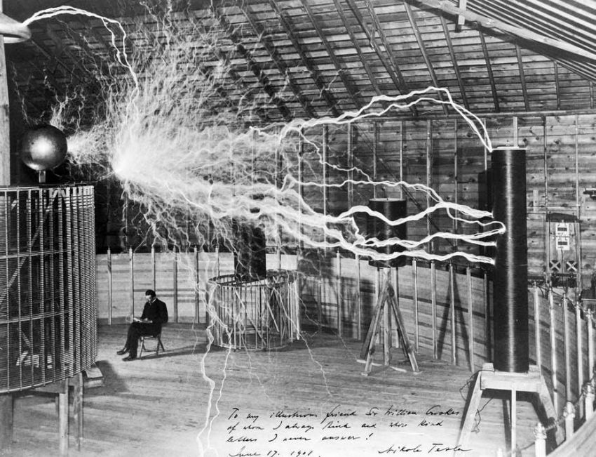 Nikola Tesla and his electricity