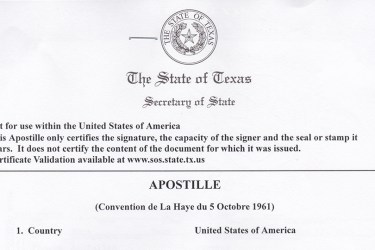 Apostille versus full legalization of government documents