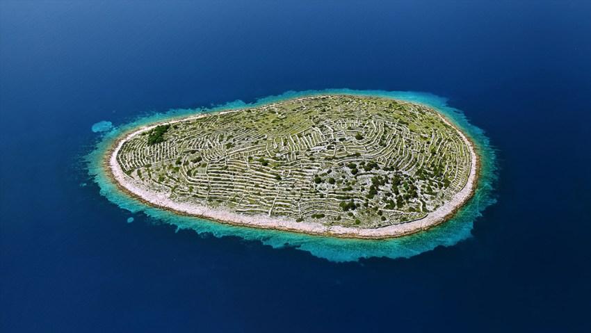 Dry stone walls on Croatia island
