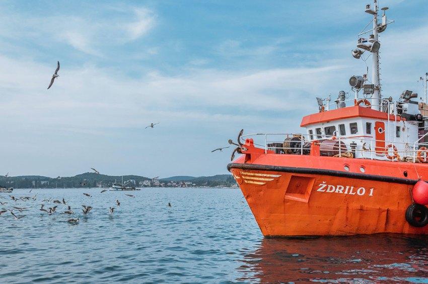 Fishing boat in Croatia