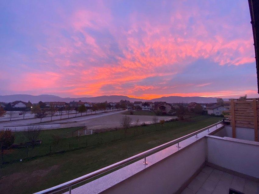 Sunset in Samobor, Croatia