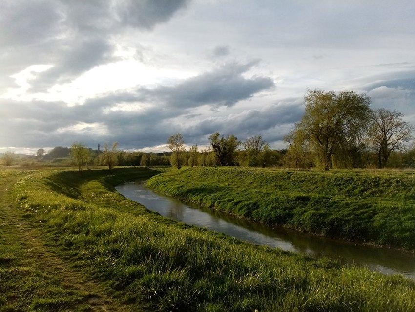 Krapina river in Bedekovčina, Zagorje, Croatia