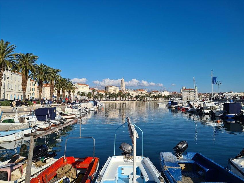 Marina in Split, Croatia