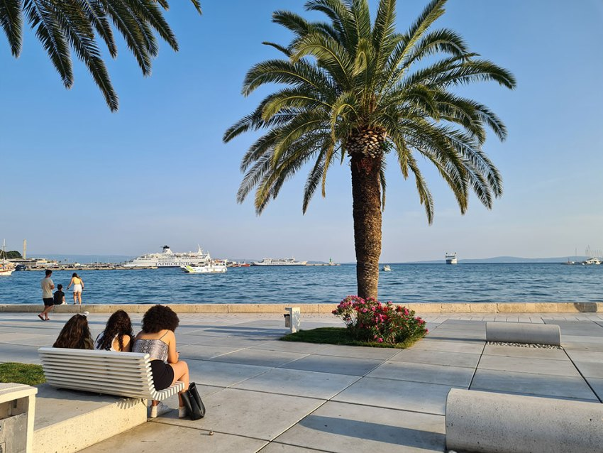 Riva promenade in Split, Croatia