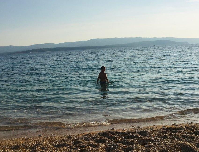 Woman in the Adriatic Sea