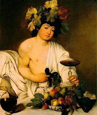 Carvaggio's Bacchus, God of Wine
