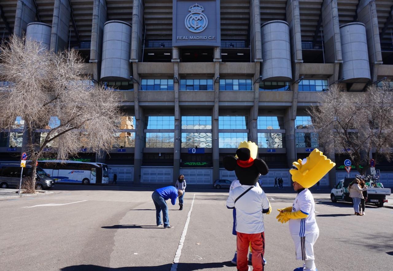 Outside Santiago Bernabéu stadium madrid spain