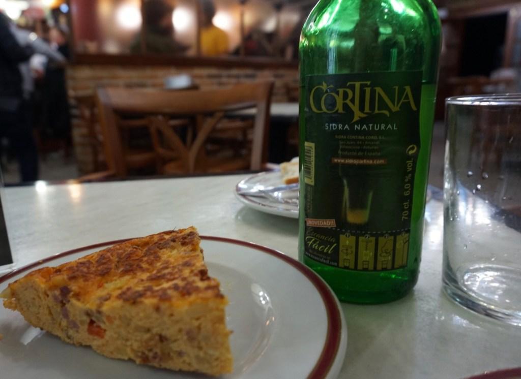 paella with chorizo, tortilla with chorizo