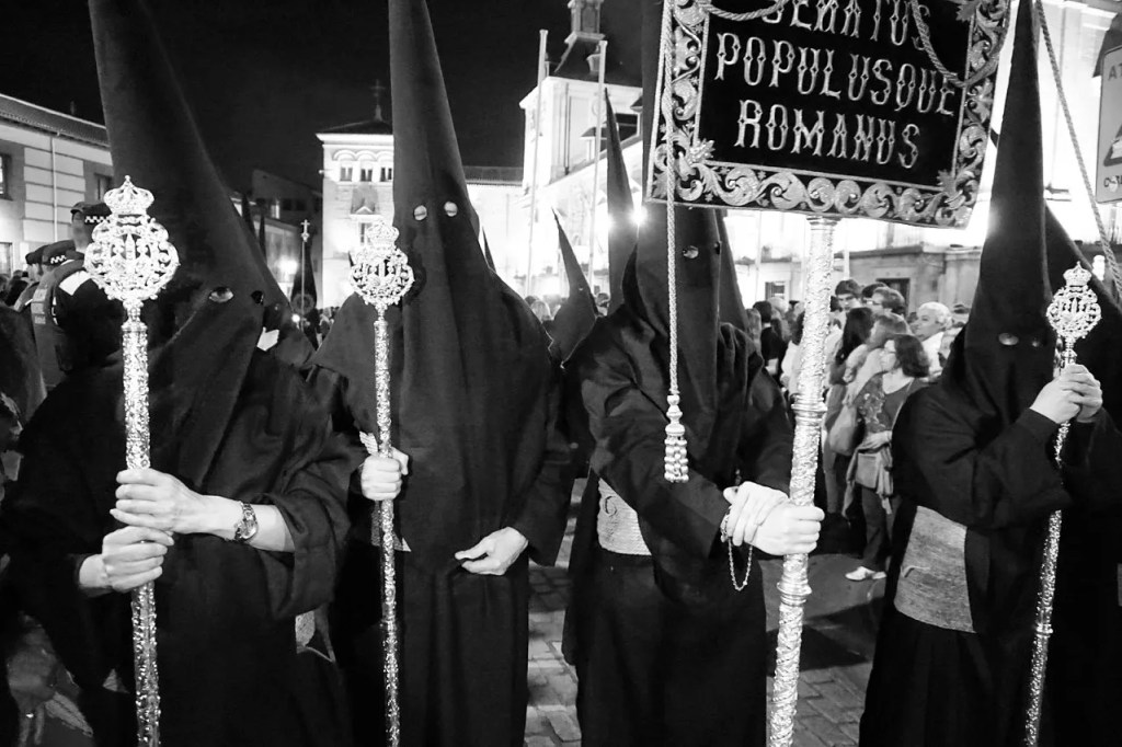 holy week capirotes in madrid, spain