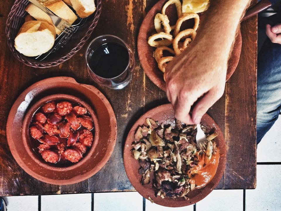 chorizo and pork and calamari at casa toni madrid