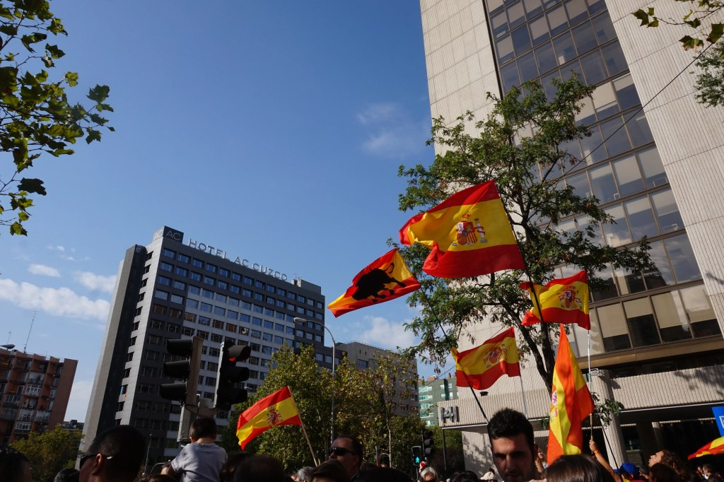 spanish flags and catalan independence