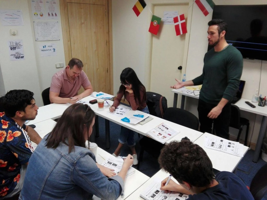 class at spaneasy spanish school madrid