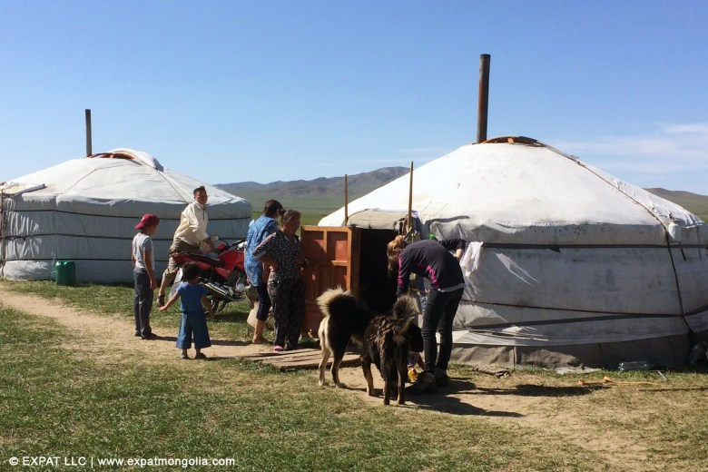 visiting a nomadic family