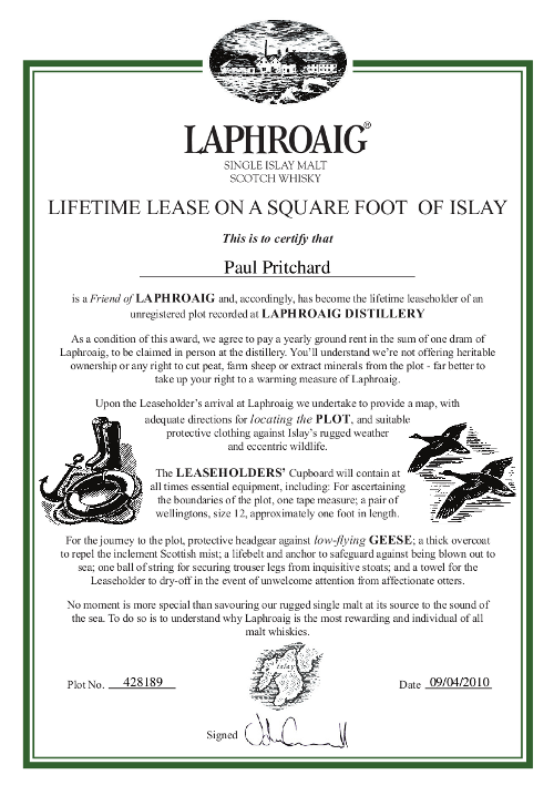 certificate of land ownership