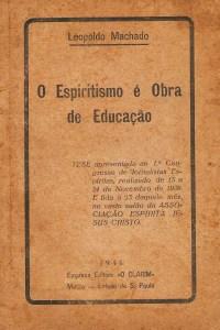 capa o Espiritismo é obra de educação