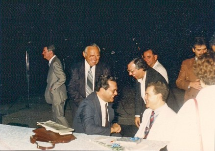 Divaldo Franco com Perri e Wilson Garcia.