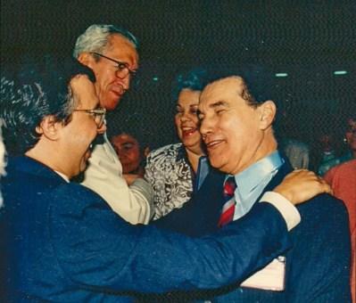 Divaldo Franco com Wilson Garcia, Nazareno Tourinho e Suely Caldas Schubert.
