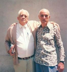 Jorge Rizzini e o escritor Domério de Oliveira.