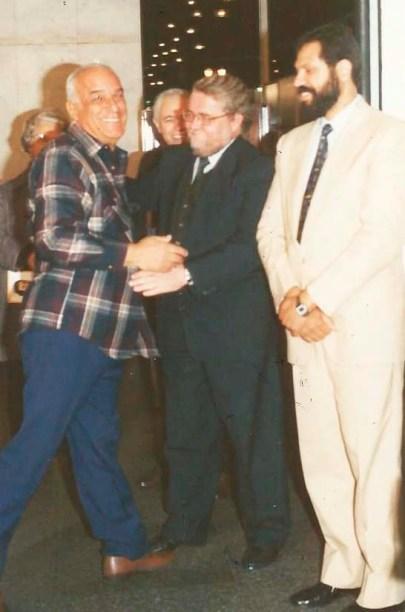 Jorge Rizzini e Eduardo Carvalho Monteiro em evento na C^mara Municipal de São Paulo, junho de 1992.