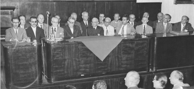 Federação Espírita do Estado de São Paulo, década de 1960. Vários personagens de destaque do movimento espírita.