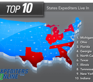 Top 10 States Expediters Live In