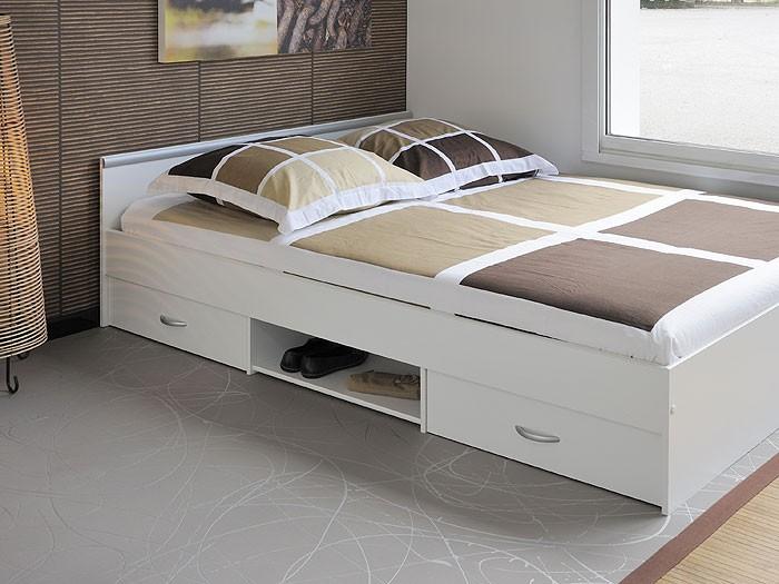 Jugendbett Bett 140x200cm Mit 2 Bettksten Weiss