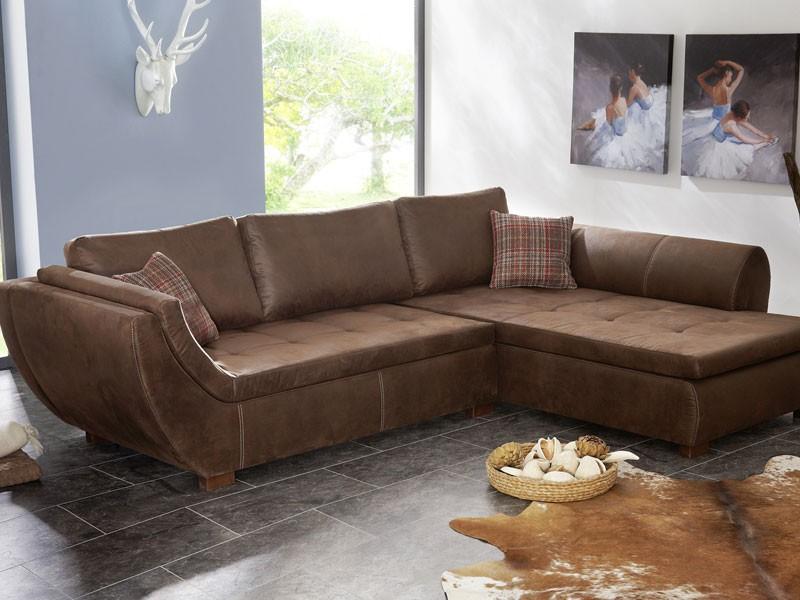 Wohnlandschaft 287x196 Braun Antikleder Optik Ecksofa Couch. Sofas Antik  Leder Farmersagentartruiz Com
