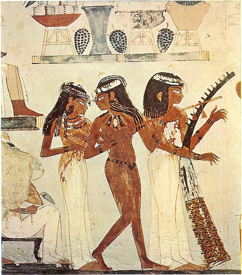 Ancient Egyptian Music & Dance. Scene from Tomb of Nakht