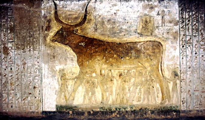 The Eye of Ra and the Destruction of Mankind - Depiction of the Heavenly Cow in Seti I's Tomb