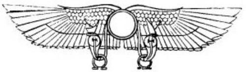 Egyptian God Horus as the Winged Disk