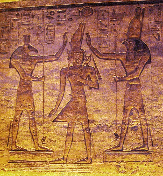 Egyptian God Seth, King Ramesses, God Horus