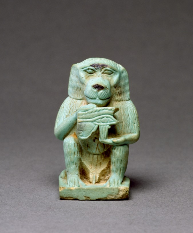 Egyptian God Thoth Baboon Statue