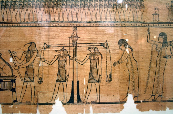 Egyptian God Thoth in the Weighing of the Heart