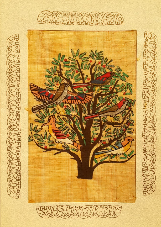 Egyptian Papyrus Art - Tree of Life