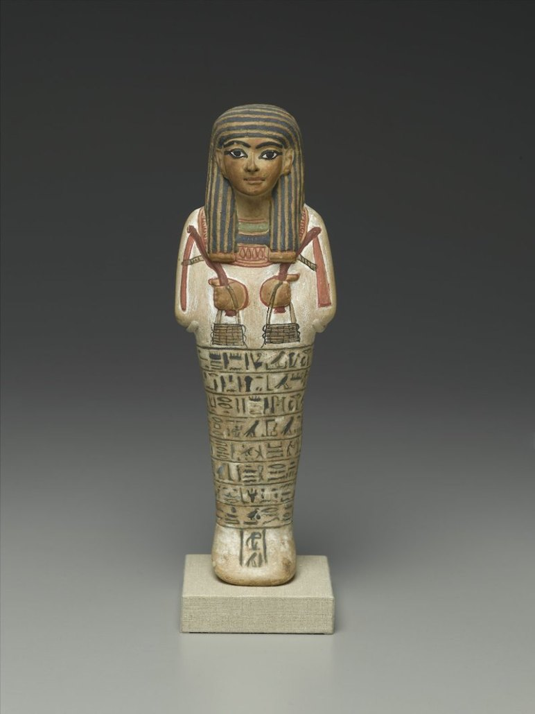 Ushabti of Amunemhat, ca. 1400-1336 B.C.E. Limestone, painted. Brooklyn Museum, Charles Edwin Wilbour Fund.