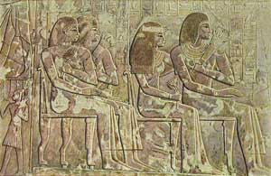 Ancient Egyptian Sculptures - Protruding Wall Relief