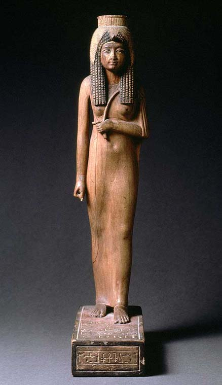 Ancient Egyptian Clothes - Queen Ahmose Nefertari wearing long sheath dress
