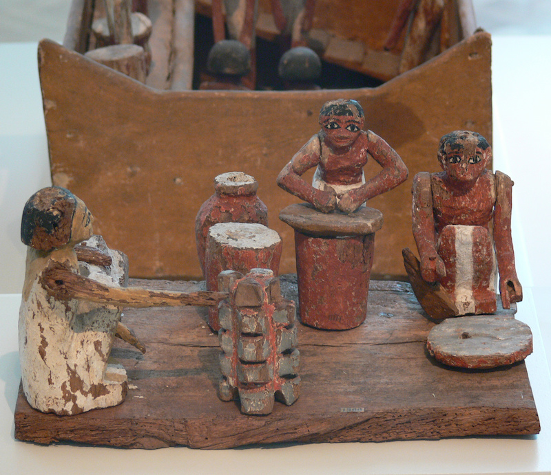Ancient Egyptian Food - Model of a kitchen, from the Berlin Museum