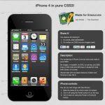 Un iPhone 4 en CSS3