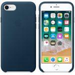[Test] Coque en Cuir Apple iPhone 8 Bleu Cosmos