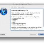 iOs 4.3.4 est de sortie