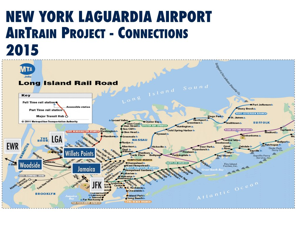 For LaGuardia An AirTrain That Will Save Almost No One Any Time - Nyc map airports